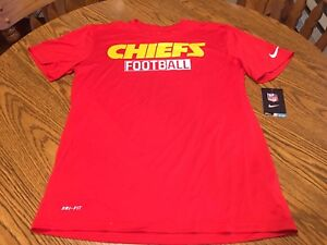 Kansas City Chiefs NFL Men s Nike Logo Performance Red Shirt Medium ... 19a86b9a2