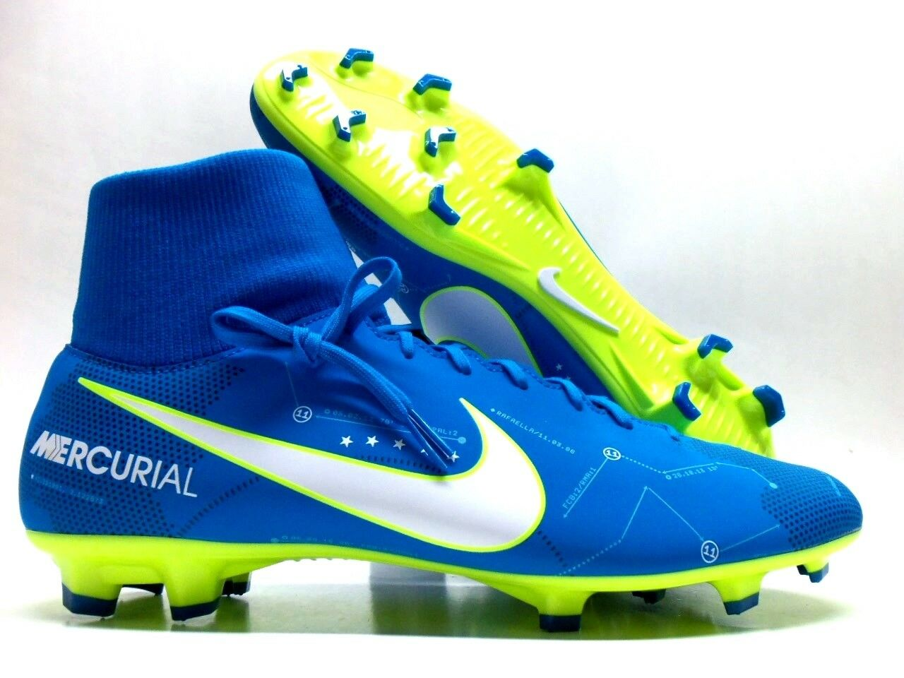 NIKE MERCURIAL VICTORY VI DF NJR FG NEYMAR BLUE ORBIT SIZE MEN'S 9 [921506-400]
