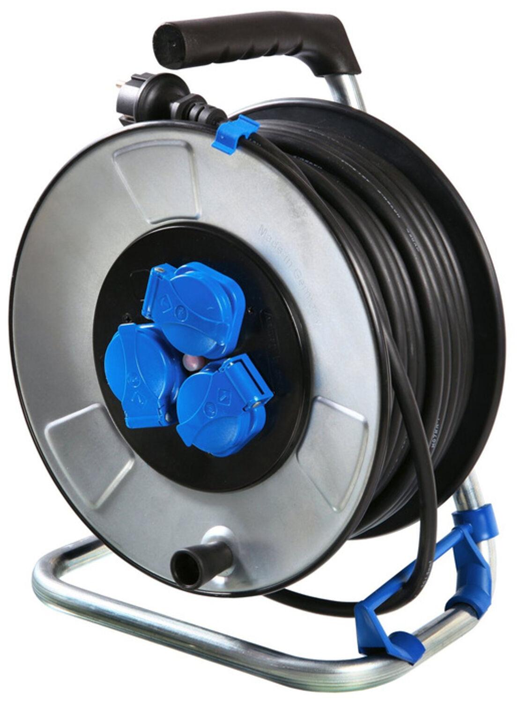 AS-Schwabe IronCoat Metall Kabeltrommel 285 mm Durchmesser 33 m H07RN-F 3G 2,5