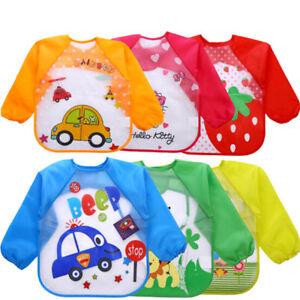 Baby Kids Waterproof Cartoon Towel Kids Toddler Dinner Feeding Bibs Burp Cloths