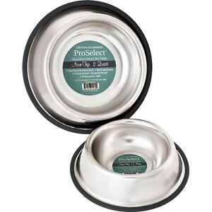 No-Tip-Stainless-Steel-Dog-Bowl-USA-Seller-8-sizes-Non-Skid-Slip-Pet-Cat-Dish