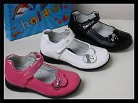 Girls Kids Party Shoes  Size UK 12-3 / EUR 31-36 Black White Pink