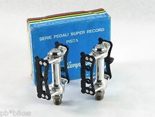 "Campagnolo Super Record Titanium Pista Pedal Set 9/16"" Vintage Track Bike NOS"
