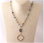 Bohemian-Tribal-Jewelry-Beads-Halsband-Amazonite-Stones-Natural-Necklace thumbnail 2