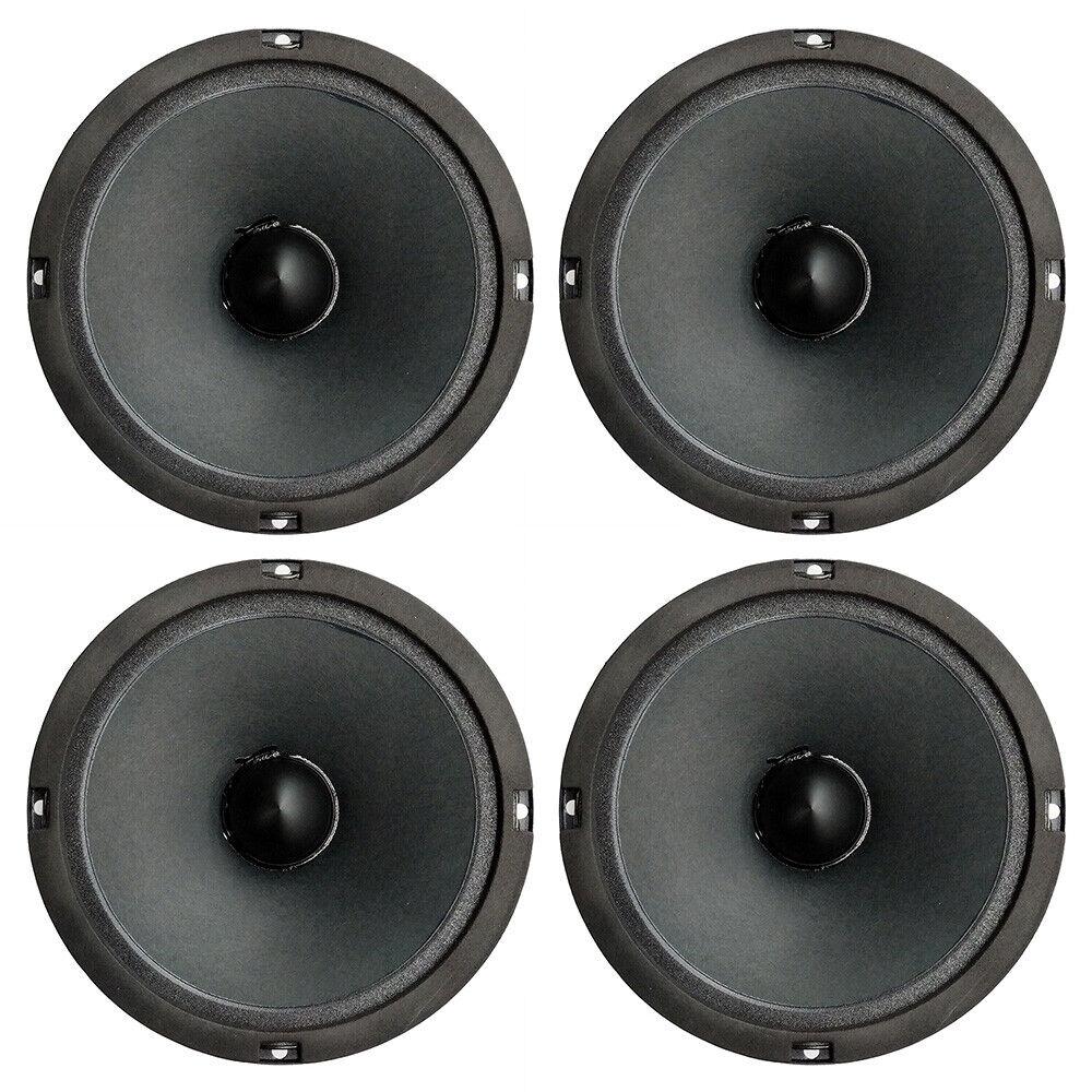 4 x Master Audio BMD8200 6.5  Midrange 150 Watt RMS Speaker 150Hz - 8kHz 100dB