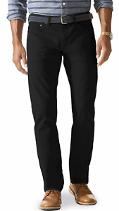 Dockers Pacific Collection Black Stretch Slim Fit 5 Pocket Sateen Pants