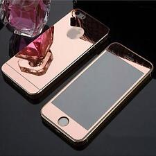 COLOR MIRROR EFFECT FRONT BACK TEMPER GLASS  PROTECTOR FOR IPHONE 7 - ROSE