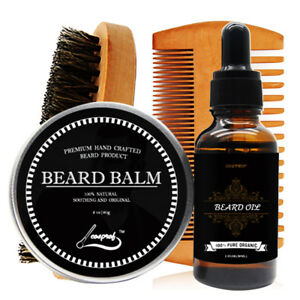 Beard-Grooming-amp-Trimming-Kit-for-Men-Care-Beard-Oil-amp-Balm-Beard-Comb-amp-Brush