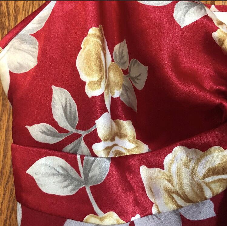 Victoria's Secret Floral Red Lingerie Slip Dress … - image 5