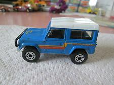 1987 Matchbox SF Blue Land Rover Ninety Car 1:62 Silver Brushed Base (Minty)