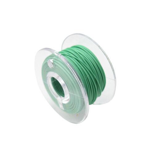 Micro cable galon flexible FEP 0,014mm² verde 10 metros bobina modelo ferroviario modellbau