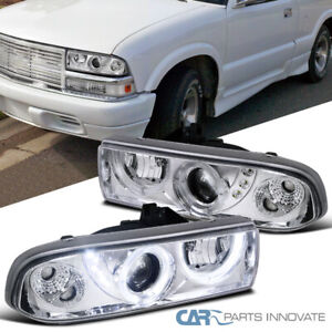 For Chevy 98 04 S10 Pickup Blazer Clear Halo Projector Headlights Smd Led Drl Ebay