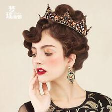 Reteo Baroque Queen Tiara Crown Girl Women Headdress Headband Wedding Accessory