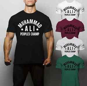 Muhammad Ali T Shirt Gym Entraînement Boxe Mike Tyson en régime d/'entraînement MMA