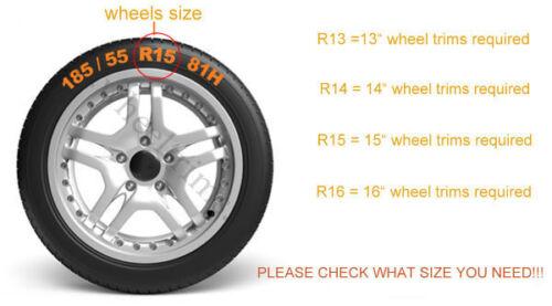 "Set of  4x15/"" wheel trims to fit Fiat Punto,Doblo,Multipla,Panda,Stilo"