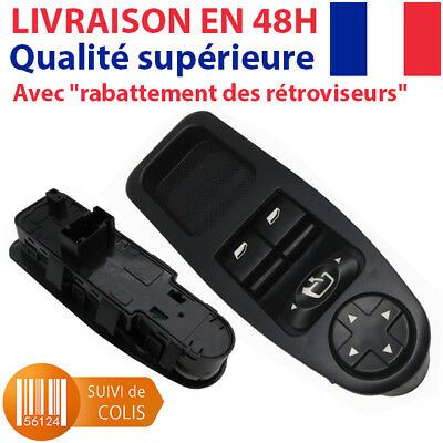 6554.ZH  NEUF Interrupteur Commande Bouton Leve Vitre Et Rétroviseur Fiat Scudo