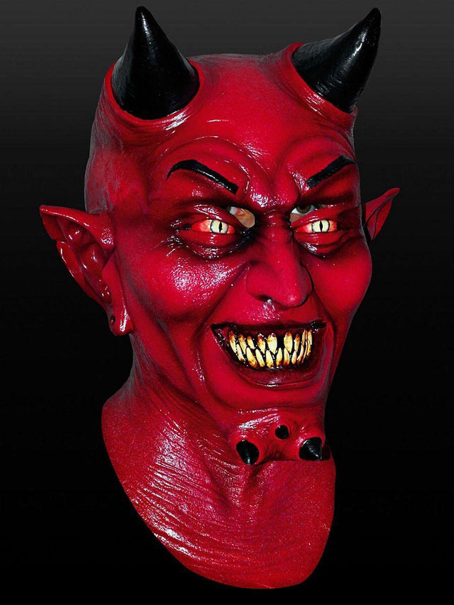 Incube masque en latex Carnaval Halloween Diable Démon