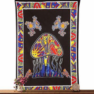 Home Decor Wall Hanging Mandala Poster Bob Marley Smoking Tapestry Ethnic Indian