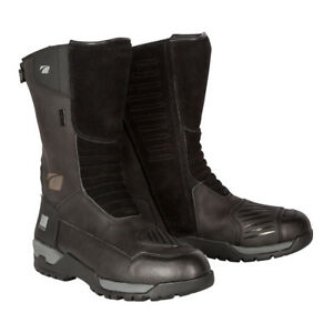 Spada-STELVIO-WP-Moto-Cuero-Botas-Impermeables-Negro