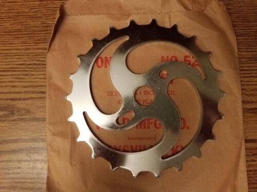 NOS Vintage Wald 522 Skip Tooth Chrome Chainring...Sprocket...22 Teeth...Bike