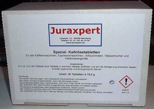 30 Entkalkungstabletten Spezial-Kalklösetabs  á18g für Jura Saeco DeLonghi Bosch