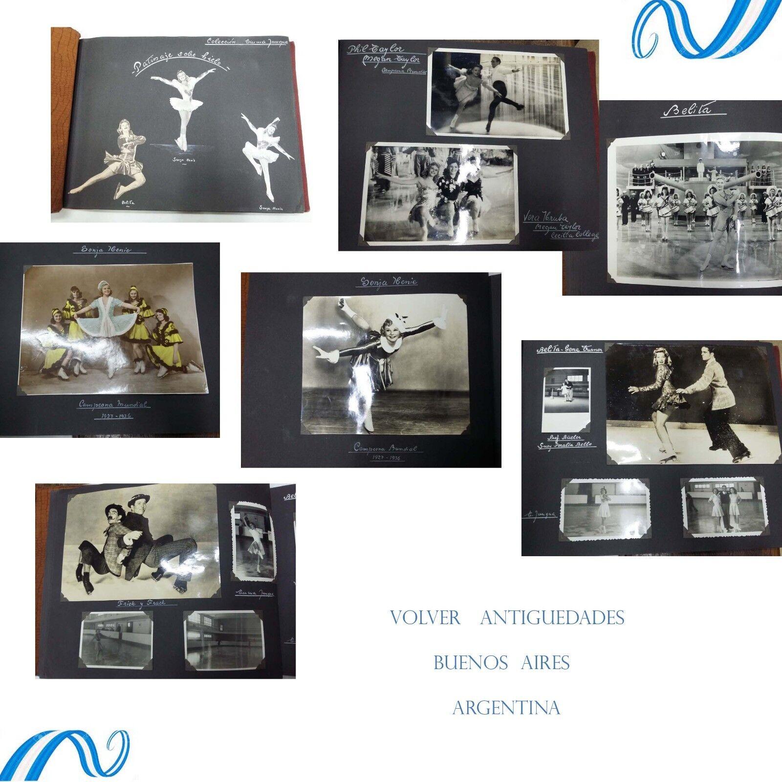 Historical Ice Skating photo album Henie Belita Hruba Ralston  Turner Dworshak  brand on sale clearance