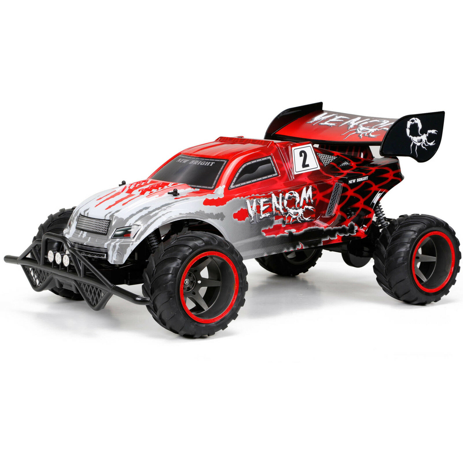Bright 1 6 6 6 9.6V Venom R C Car Red Remote Control Toy Hobby Car Race Best New 05d650