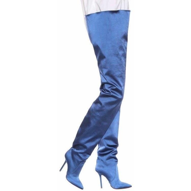 a buon mercato Hot donna Sexy Suede Stilettos Over Knee Thigh High stivali stivali stivali Pointed Toe Long stivali  fornire un prodotto di qualità