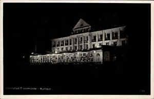 TRAVEMUNDE-tolle-Nachtaufnahme-AK-Kurhaus-um-1940-alte-Ansichtskarte-ungelaufen