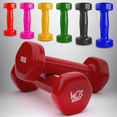 Vinyl Dumbbell Set Ladies Aerobic Training Weights Strength Training Home Gym ★