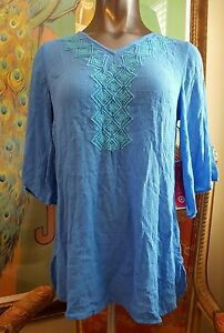 68d3de31837 Lilly Pulitzer for Target Womens Gauze Tunic Top Cover Up BlueBell ...