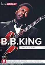 LICK LIBRARY Learn to Play B.B. B B KING ELECTRIC Guitar DVD ROCK ME BABY SONGS