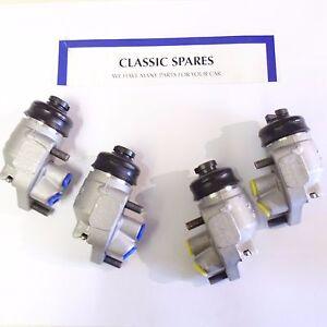 MORRIS-COMMERCIAL-1-1-2-ton-LD05-1960-1970-FREIN-AVANT-ROUE-CYLINDRES-ENSEMBLE-DE-4