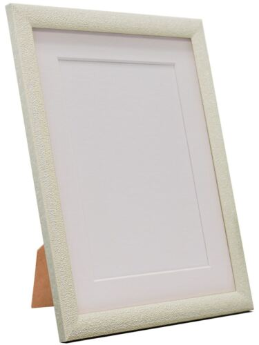 Ivory and other Colour Mount Black Glitz Cream Picture Photo Frame with White