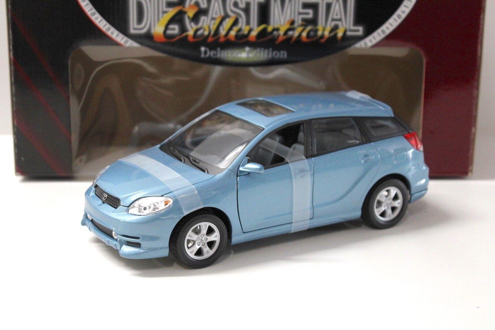 1 18 Road Signature TOYOTA MATRIX 2003 bleu New chez Premium-modelcars