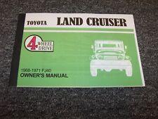1968 1969 1970 1971 Toyota Land Cruiser FJ40 Owner Owner's Operator Manual 3.9L