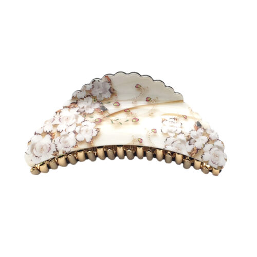 Large Flower Hair Jaw Claw Clip Hair Accessory STS07306