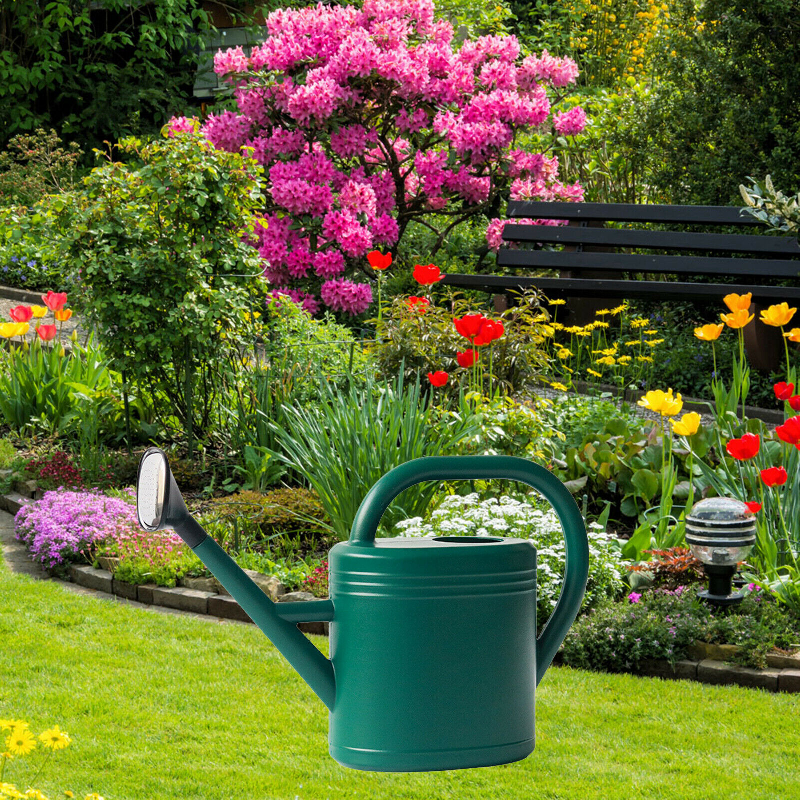 Plastic Watering Pots with Mouth 3L Large Capacity Portable Sprinkled Head