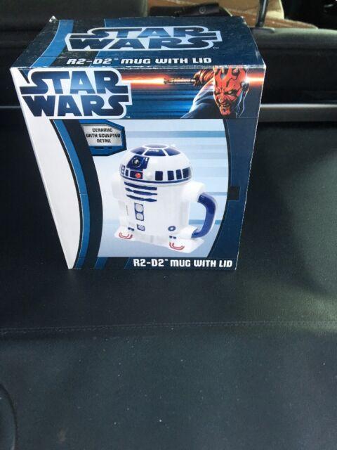 #NEW STAR WARS ~ R2-D2 Ceramic Mug with Lid Zeon Ltd.