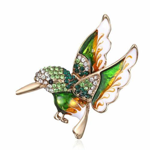 Bird Animal Crystal Rhinestone Pearl Brooch Pin Wedding Bridal Women Jewelry New