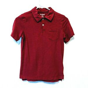 Husky Cat /& Jack Solid Red Short Sleeve 3 button Collared Shirt XXL 18