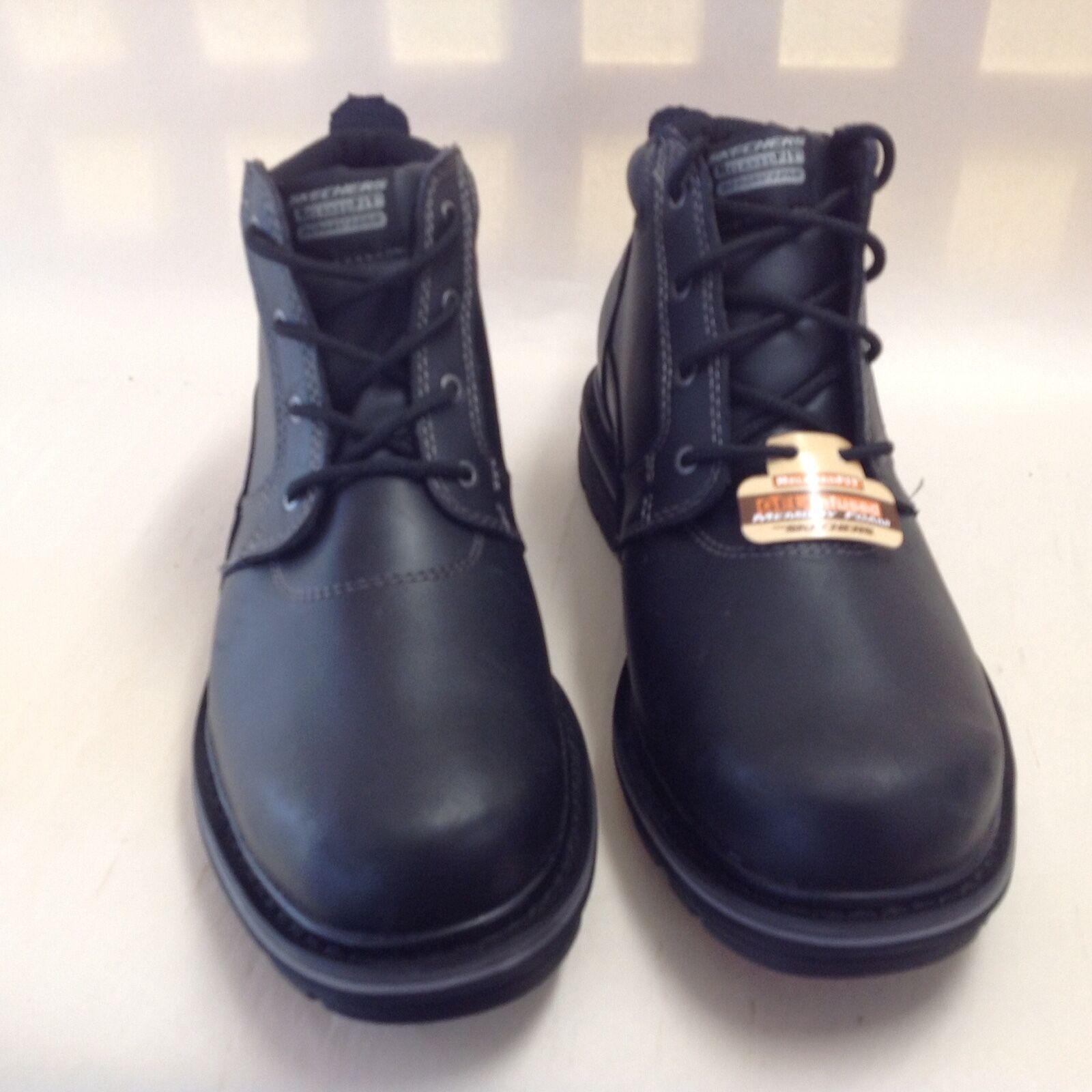 64320 SKECHERS Men's Marcelo-Oakdale Ankle Boots SZ 8 US Relaxed Fit Black