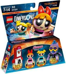 LEGO DIMENSIONS #71346 POWER PUFF GIRLS TEAM PACK 2 MINIFIGURE RETIRED NEW
