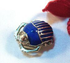 Käfer Emaille Anhänger 925 Silber vergoldet Kettenanhänger Emaille / bh 130