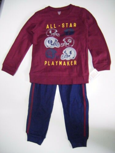 5T 2 Piece Carter/'s Just One You All Star Football Fleece Jogging Outfit