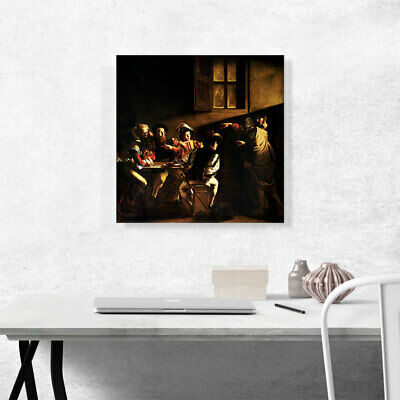 ARTCANVAS The Calling of Saint Matthew 1600 Canvas Art Print by Caravaggio