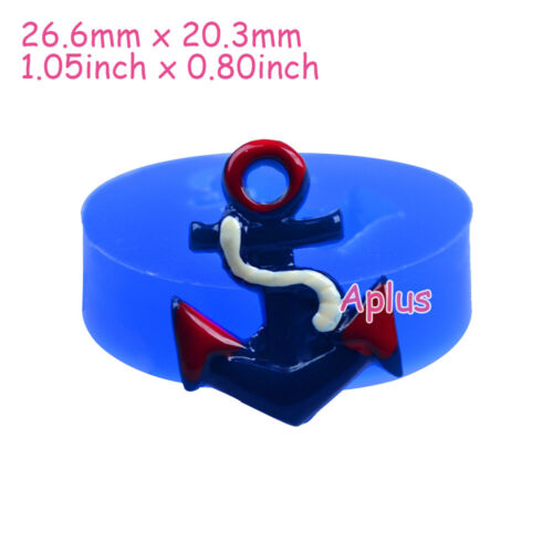 PFiEB533 26.6mm Boat Anchor Silicone Mold Pendant Mold Resin Cake Decoration