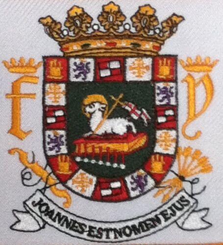 Escudo Army Emblem Gold Border PUERTO RICO  Iron-On Patch Boricua Emblem
