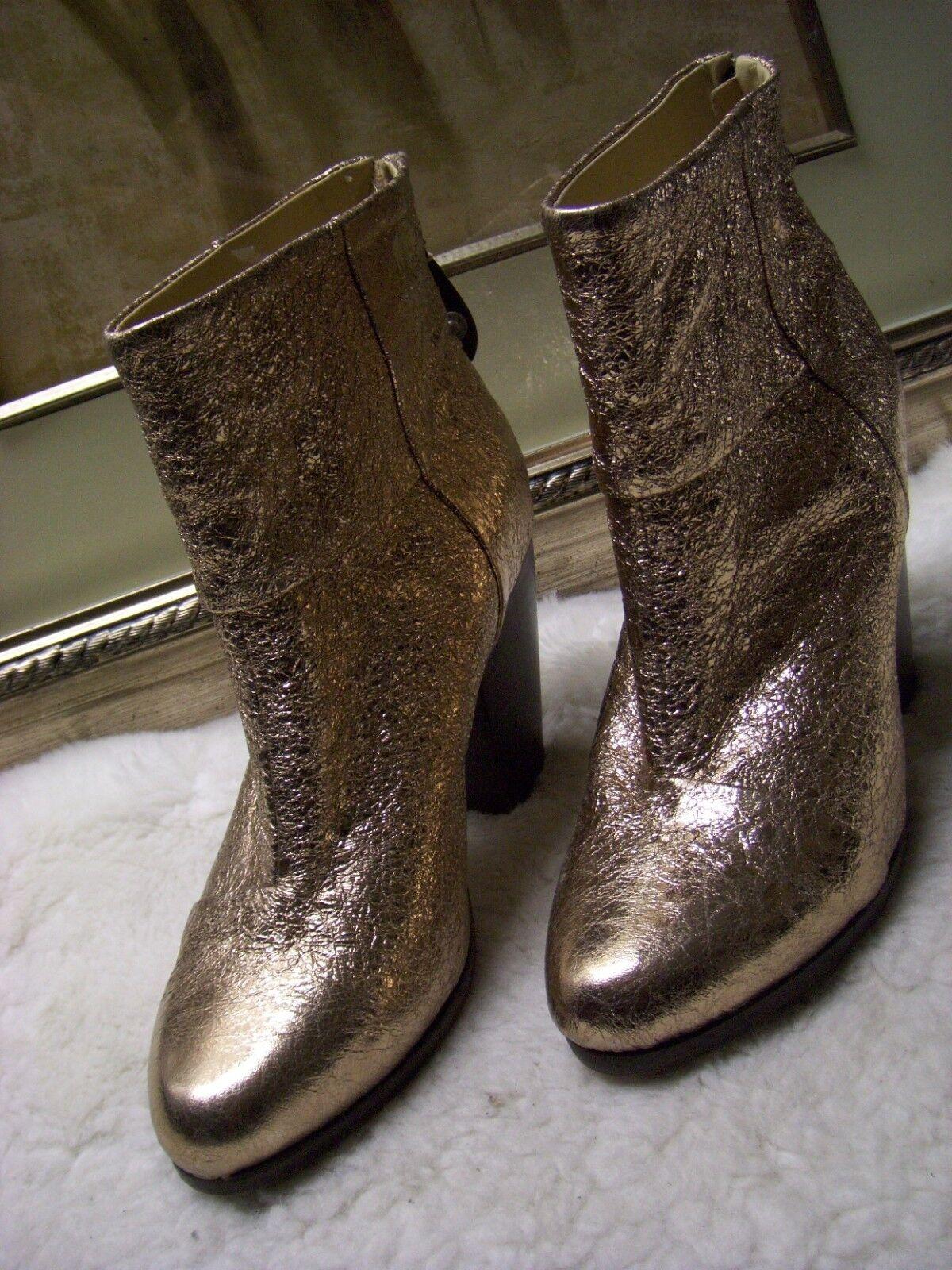 *** Booties Rag & Bone Newbury Gold  Leder Stiefel Booties *** Size 37.5 $550 *** 2af6bd