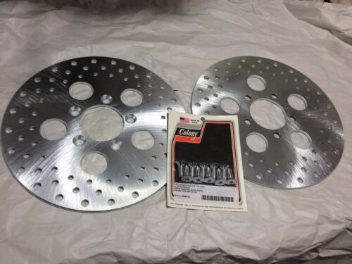 77-83 fx FXR  XL 78-83 front dual BRAKE ROTOR DRILLED HD 44137-77a